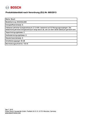 Bosch BGS5SIL66B - Relaxx'x ProSilence66 - Recensione, Prezzi e Migliori Offerte. Dettaglio 3