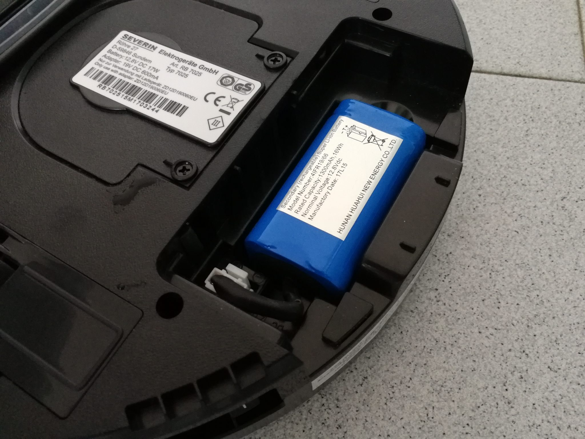 Severin Chill RB 7025 - vano batteria