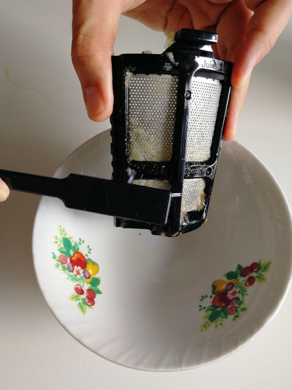 pulizia filtro estrattore di succo