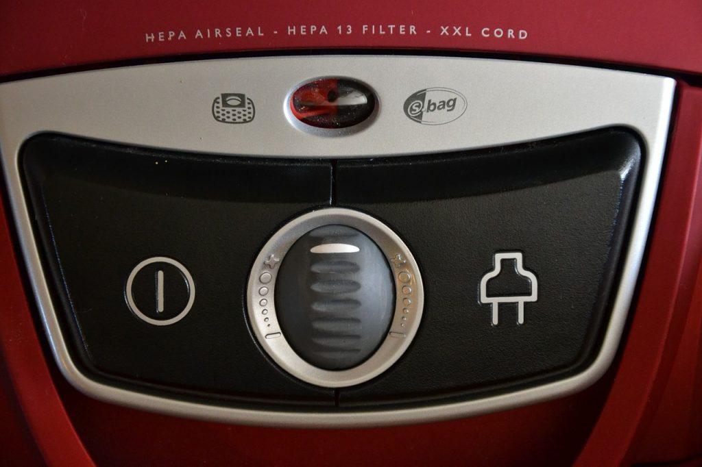 aspirapolvere senza sacco - indicazione filtro