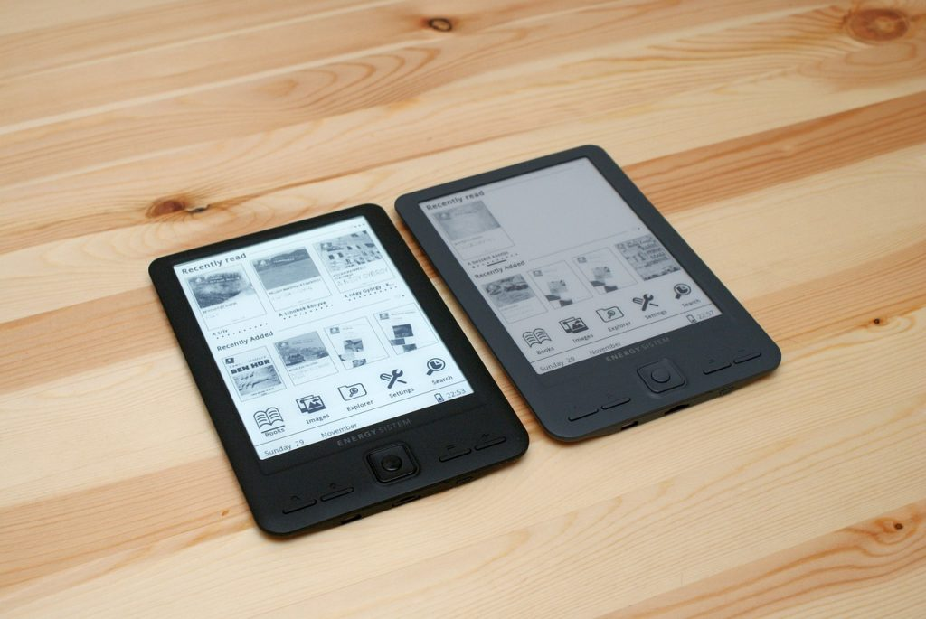 ebook reader- illuminazione