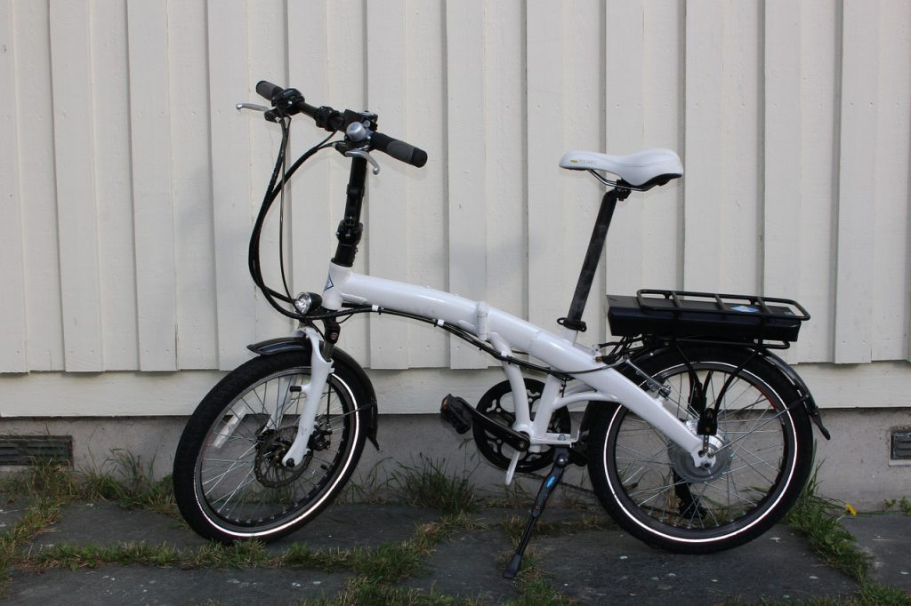 bici pieghevole - chiusa centrale