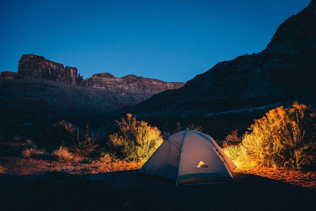 tenda da campeggio - utilizzo