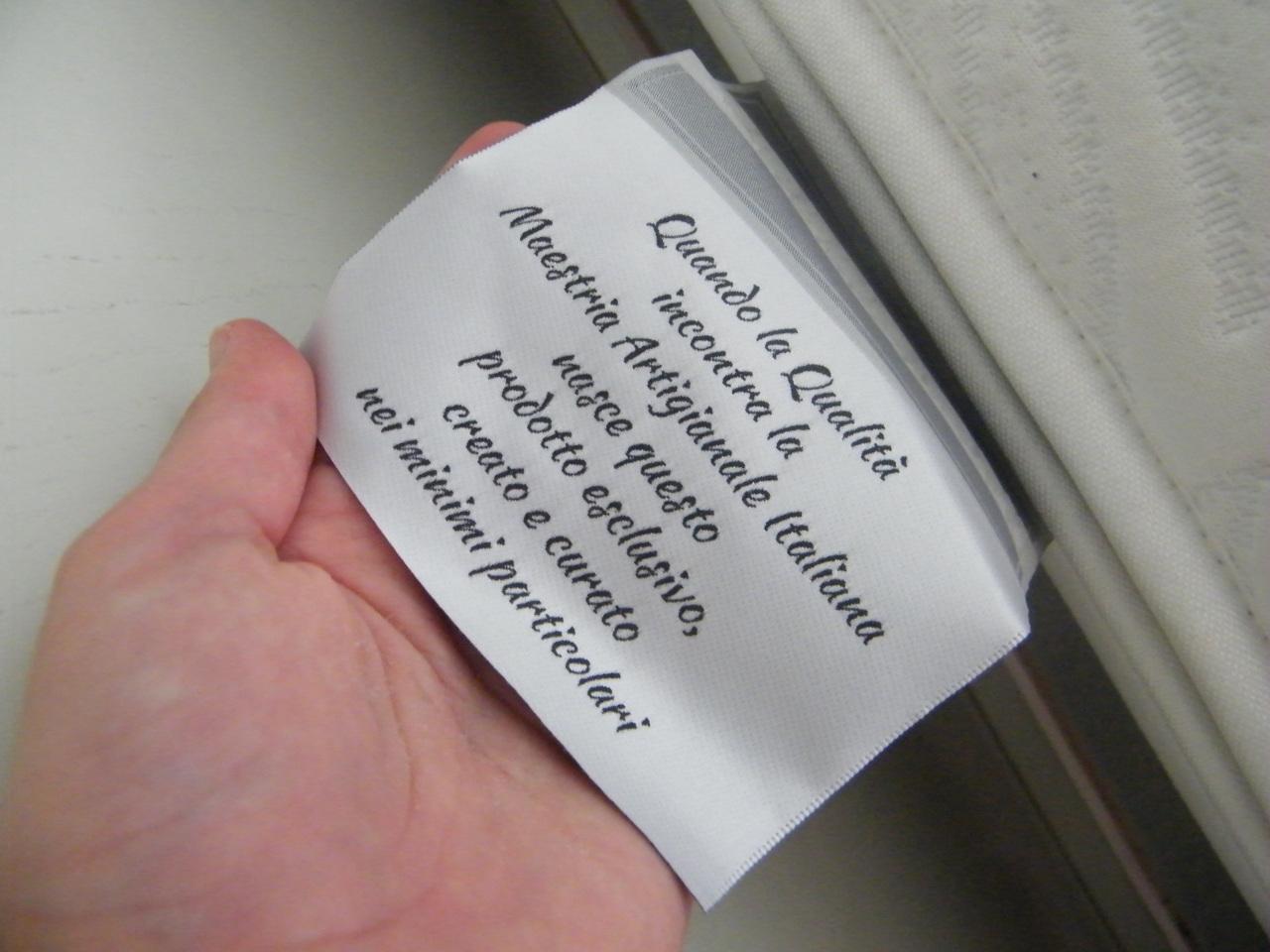 materasso beltalia etichetta