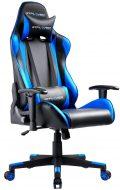 sedia da gamig nera e azzurra