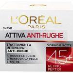 L'Oréal Paris Crema Viso Anti-rughe Attiva 45+ - Recensione, Prezzi e Migliori Offerte. Dettaglio 1
