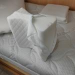 Sogno d'argento cuscino per gambe sfoderato